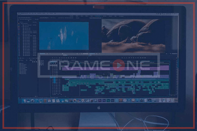 Video Editing on a computer screen